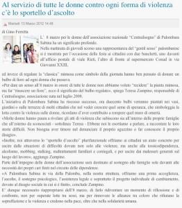 articolo 13 03 2012